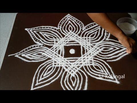 easy padi kolam - traditional lines muggulu - geethala muggu for dhanurm...
