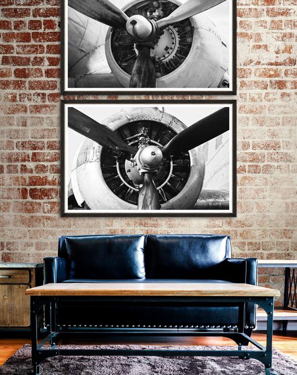 GIANT PROPELLERS - Premium Framed Art by MINDTHEGAP