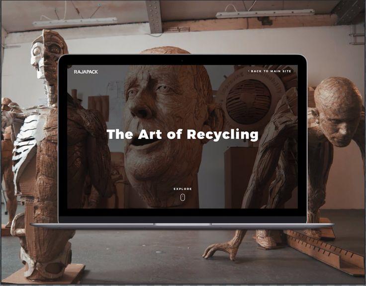 Rajapack - The Art of Recycling Website Design