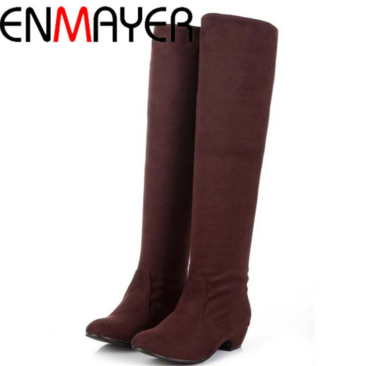 Find More Women's Boots Information about ENMAYER New Women Boots for Shoes Round Toe Fashion Platform Winter Snow Boots Falts Motorcycle Knight Knee High Boots Sale Hot,High Quality women hiking boot,China boots womens fashion Suppliers, Cheap women footwear boots from ENMAYER CO., LIMITED on Aliexpress.com