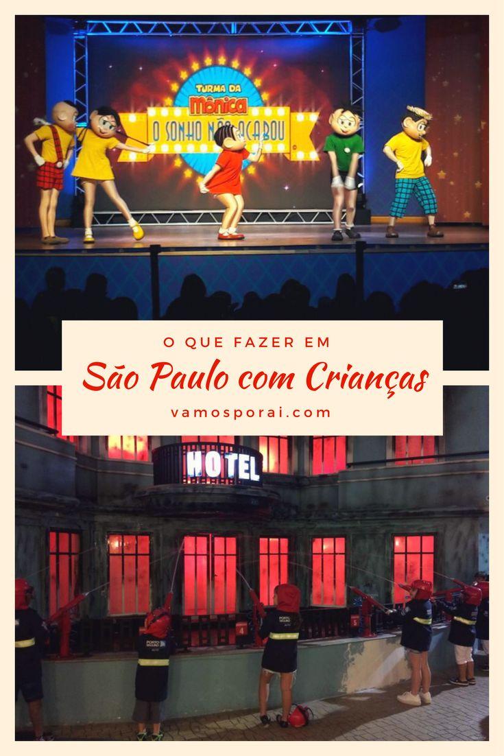 Procurando o que fazer em São Paulo com crianças? Que tal começar pelo Parque da Mônica, seguir para o Kidzania, dar uma passada no Museu Catavento, ir ao Aquário da cidade?