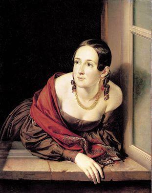 Vasily Tropinin (1776-1857) - A mulher na janela