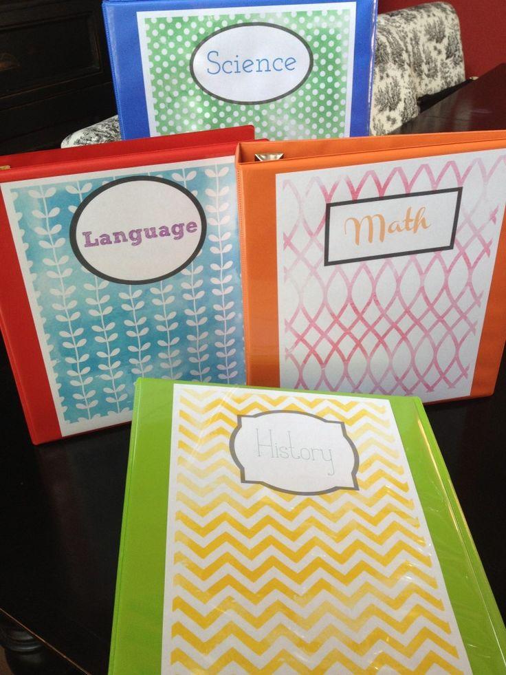 el cuaderno/ el bloc azul y anaranjada y roja y verde