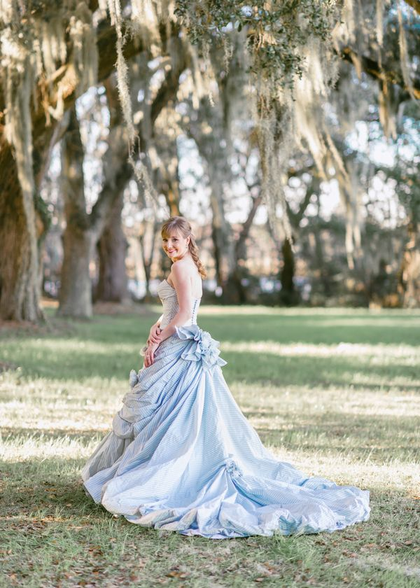 Seersucker and Pink Wedding by Pasha Belman « Southern Weddings Magazine - Our beautiful bride!!!