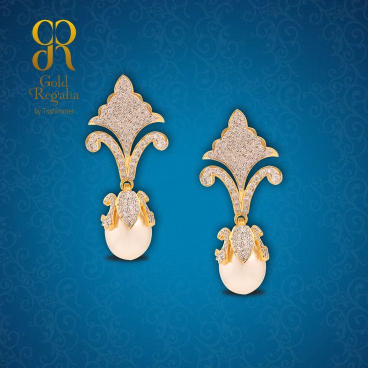 JESSA - #Earrings from Gold Regalia For more visit Us : https://goo.gl/ViTBc9 #DiamondJewelry #DiamondNecklace #WomensJewelry #IndianJewelry #Gold #Diamond #GoldJewelry #Rings