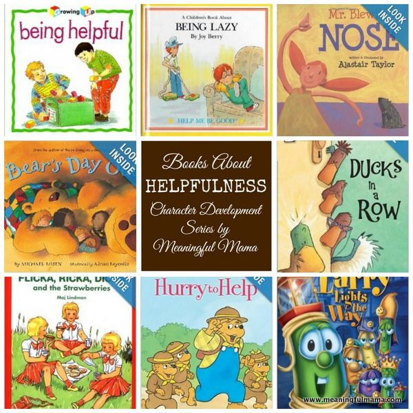 Books on Helpfulness - Character Development Series - Meaningful Mama