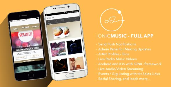 Ionic Music - Full Application - CodeCanyon Item for Sale