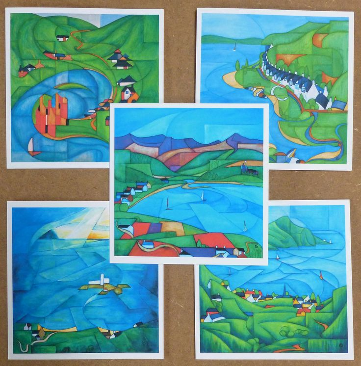 Impressions of Arran set of 5 cards of the most popular scenes
