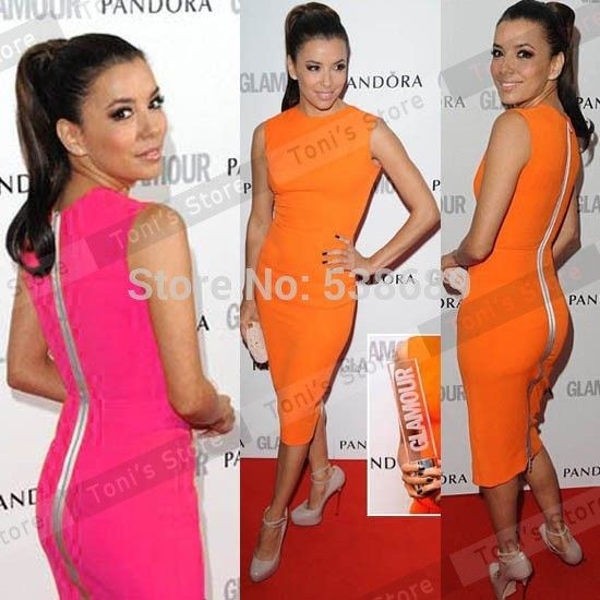 European Pop Star Style Women Shift Formal Business Office Sleeveless Slim Full Zipper Knee Length Bodycon Pencil Dress BTY255