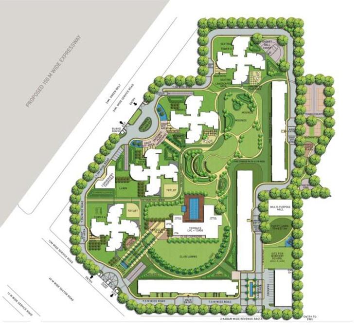 site plan. landscape architecture