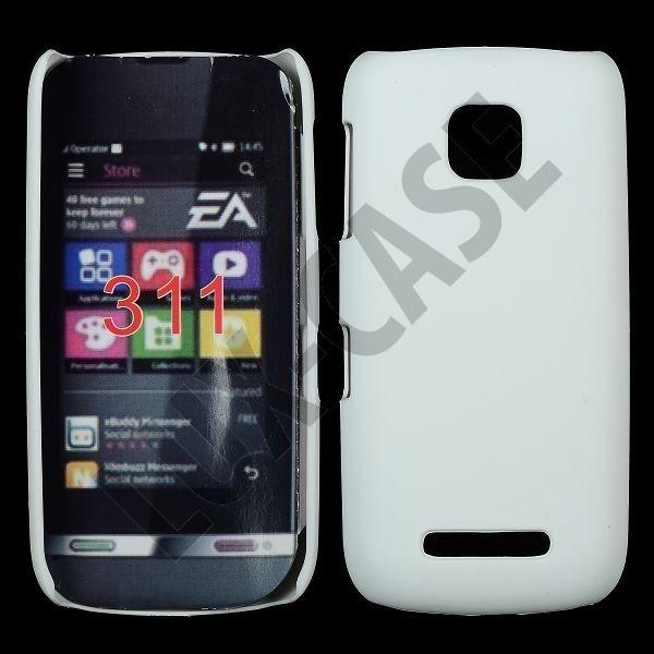 Hard Shell (Hvit) Nokia Asha 311 Deksel