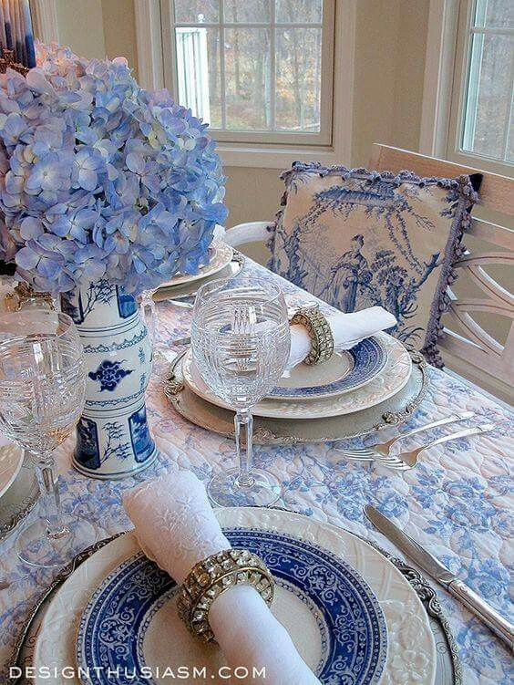 Try the table this way or use the pink toile in my dining room