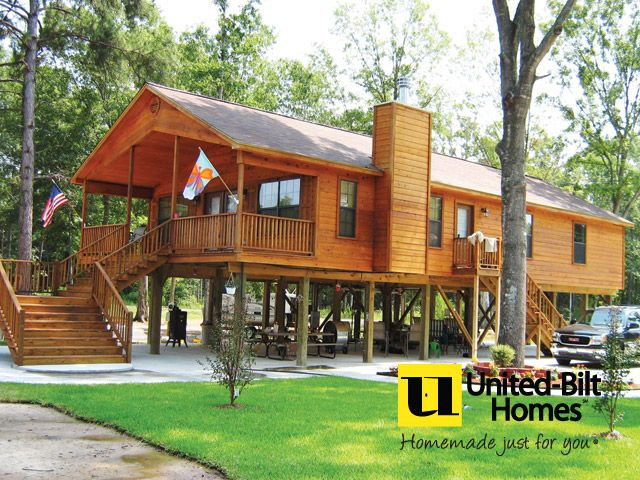 Do It Yourself Home Design: Cabin Built On Piling Foundation
