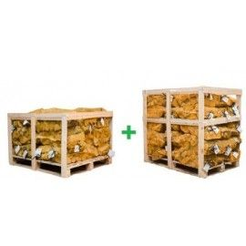 Pallet of 48 nets (40l  /15kg) of Kiln Dried Hardwood Firewood