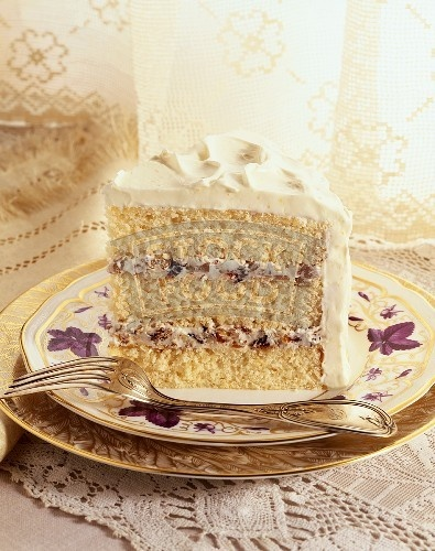 """the REAL """"Lady Baltimore Cake"""". With drunken figs, raisins and waln..."""