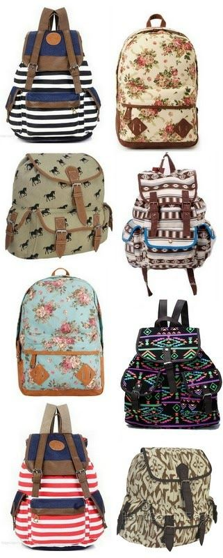 Adorable backpacks for $13 or LESS! | The Pretty Life Anonymous I want the top left