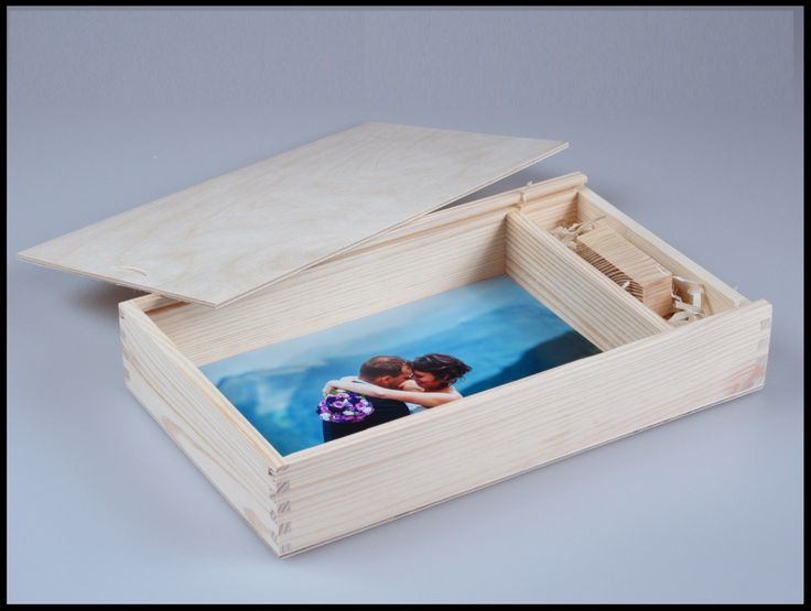 "PHOTO&USB box for 6"" x 8"" (15x21cm) photos and USB flash drive with sliding lid and compartment inside, unpainted wooden photo box decoupage Craft Supplies & Tools  Woodworking Supplies  Wood  photo box  plain wooden box  unpainted wooden box box for decoupage  wood memory box  wood chest box  box for usb  usb box  wedding box  for photographers wedding case  unfinished wood box  wooden box"