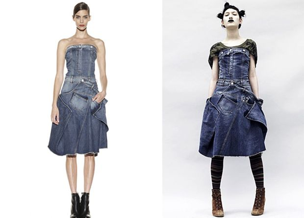 Super cute both ways! #recycled #jeans dress