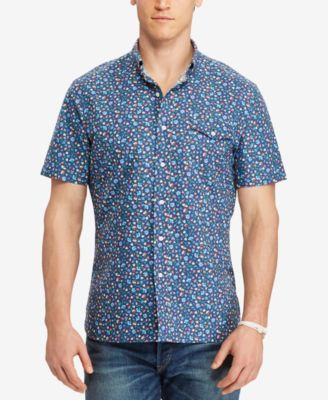 Polo Ralph Lauren Men's Big & Tall Floral-Print Oxford Shirt