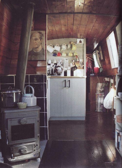 British houseboat #kitchen