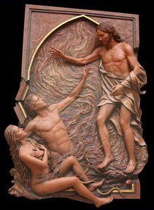 Shoal, Anastasis,Christ Redeeming Adam and Eve,Koh-Varilla Guild,St. Elizabeth Seton Church Carnegie