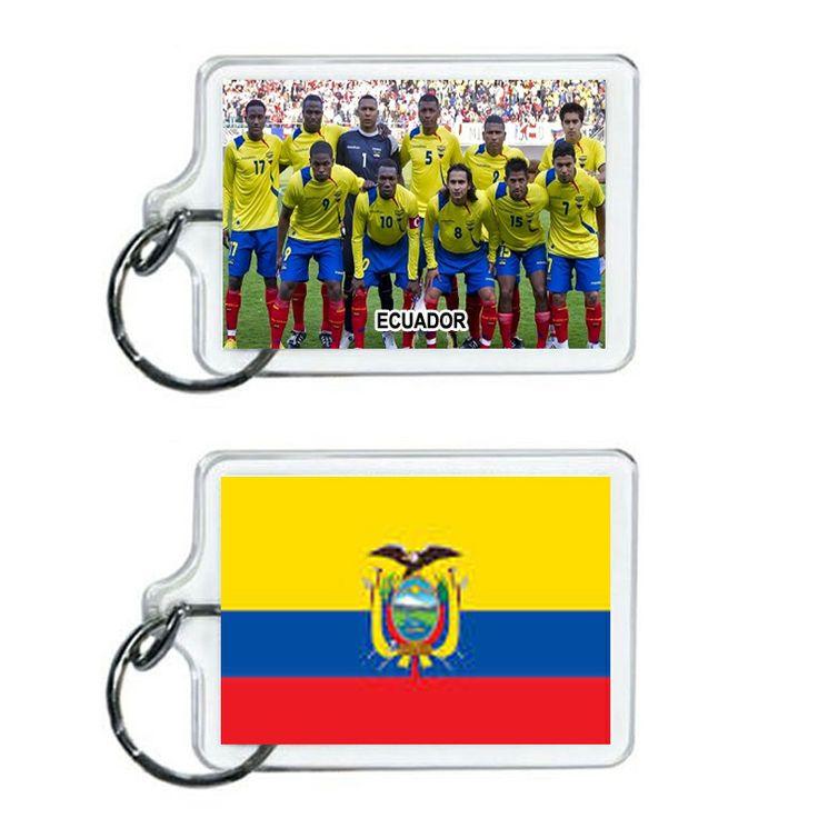 Ecuador Soccer Flag 2014 Team Player Acrylic Keychain 2 x 1 | www.balligifts.com