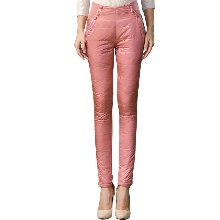 Толщиной двусторонняя верхней одежды вниз штаны женские брюки кружева Тонкий тонкий толщиной новая зимняя плюс бархат женские брюки