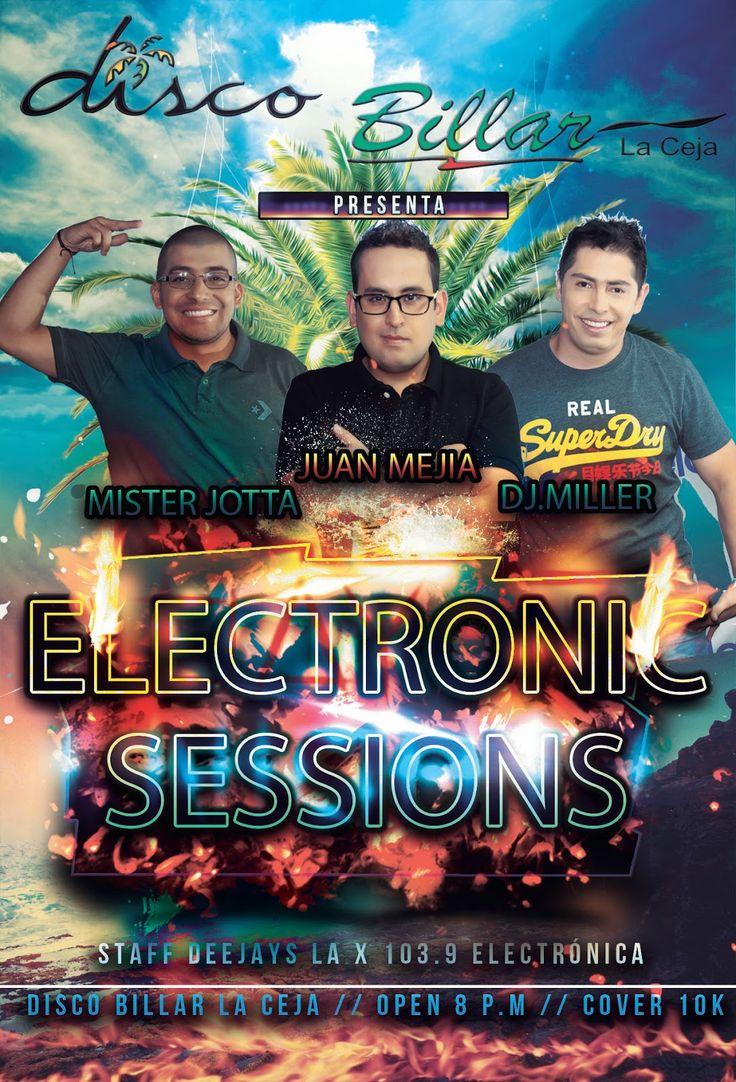 Disco Billar La Ceja: ELECTRONIC SESSIONS... sábado 4 de abril. +18 // C...