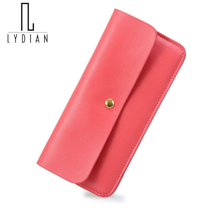 Simple Cowhide genuine leather Women wallet 2016 fresh ultra-thin design Envelope long wallet multi card holder Student purse W4