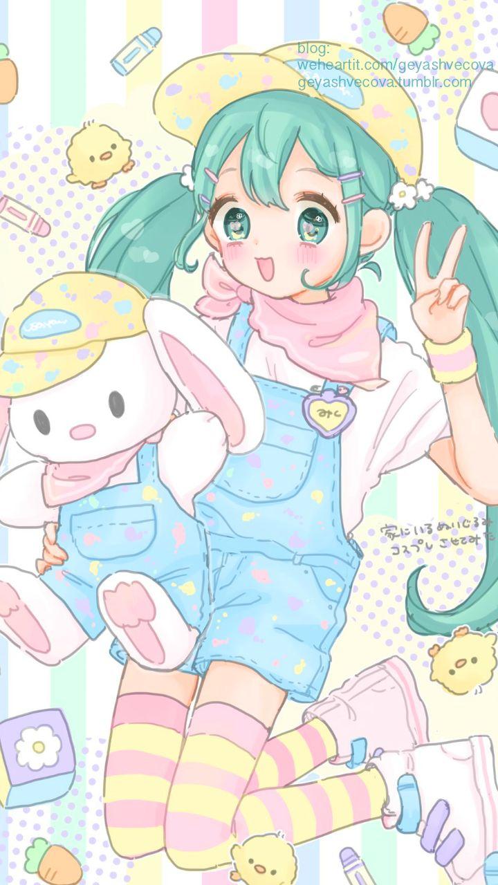 anime, art, baby, baby doll, baby girl, background