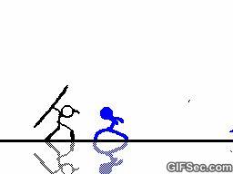 Stick man animated GIF - www.gifsec.com