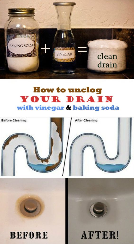 Learn how to unclog your drain with vinegar and baking soda.