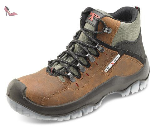 Click Workwear Mens Traxion Waxed Nubuck Anti Static/Slip Safety Work Boot - Chaussures beeswift (*Partner-Link)