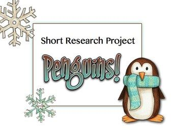 Writing | Non Fiction | Research Project | Common Core | English Language Arts | Penguin Short Research Project - Everything you need!
