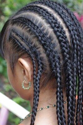 Cute braiding style