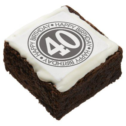 Happy 40th Birthday: Brownies  $45.95  by Bake_Sale  - cyo customize personalize diy idea