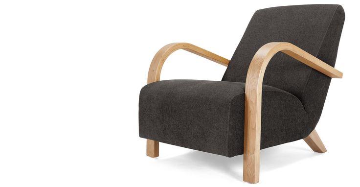 Grace, un fauteuil, gris oie | made.com