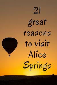 Visit Alice Springs