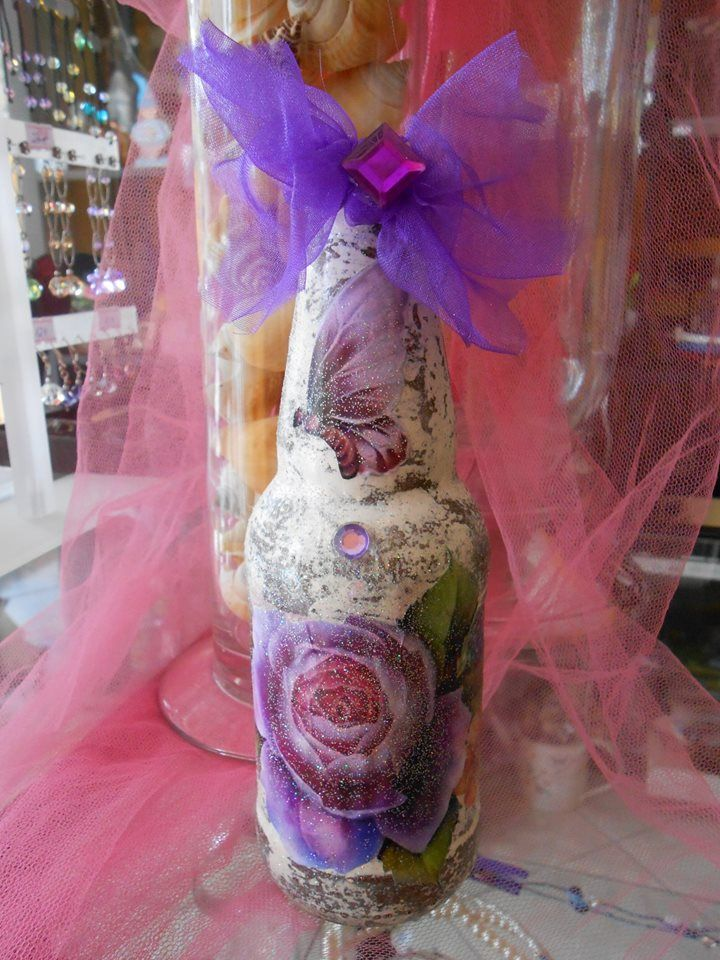 Bottle decoupage