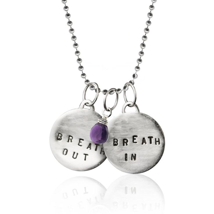 Szilvia Gogh designed a unique line of pieces where nature's most basic elements are transformed into stunning jewelry. http://goghjewelrydesign.com/products/breath-in-breath-out-necklace-with-amethyst-for-calming?utm_campaign=social_autopilot&utm_source=pin&utm_medium=pin