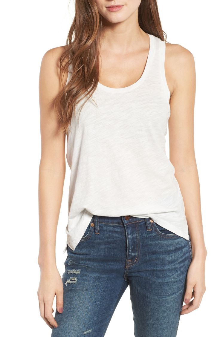 I'm all about these super light and airy Whisper Cotton Tanks from Nordstrom. {this is an affiliate link}