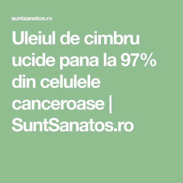 Uleiul de cimbru ucide pana la 97% din celulele canceroase | SuntSanatos.ro