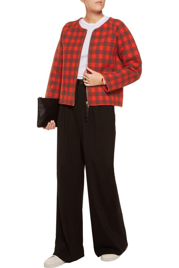 MarniChecked wool-blend jacket. Draag dit model op een strakke broek of rok!