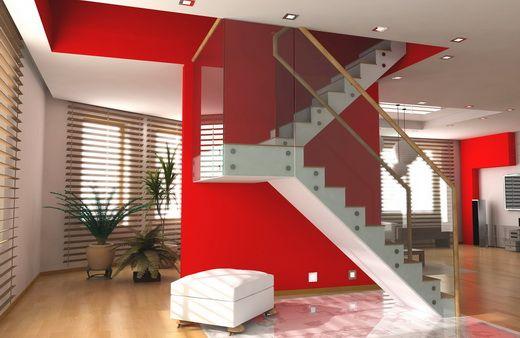 Decoración de una sala con paredes rojas - Para Más Información Ingresa en: http://fotosdecasasmodernas.com/decoracion-de-una-sala-con-paredes-rojas/