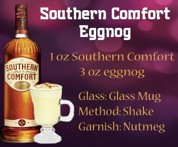 Southern Comfort Eggnog: fat free, sugar free, sweetened w splenda (not)