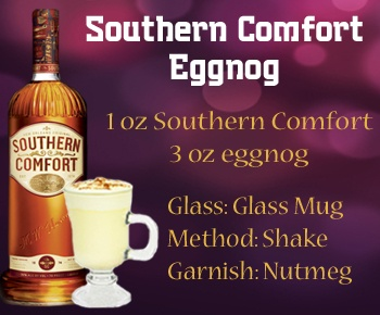 Southern Comfort Eggnog: fat free, sugar free, sweetened w splenda (not)