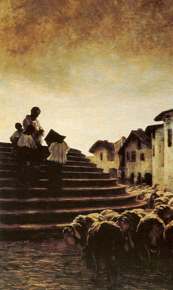 La benedizione delle pecore; Giovanni Segantini - 1884