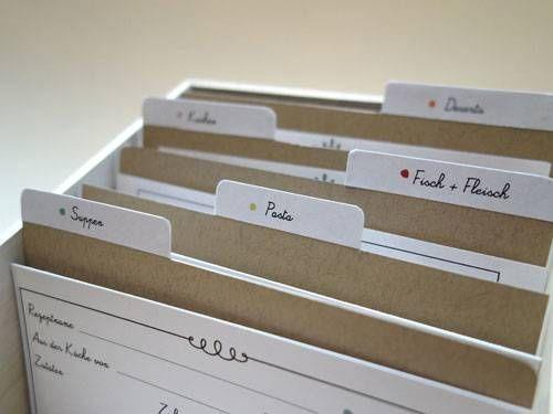 Geschenktipp Die Schone Rezepte Box Kochbuch Selbst Gestalten Geschenktipps Rezeptkarten