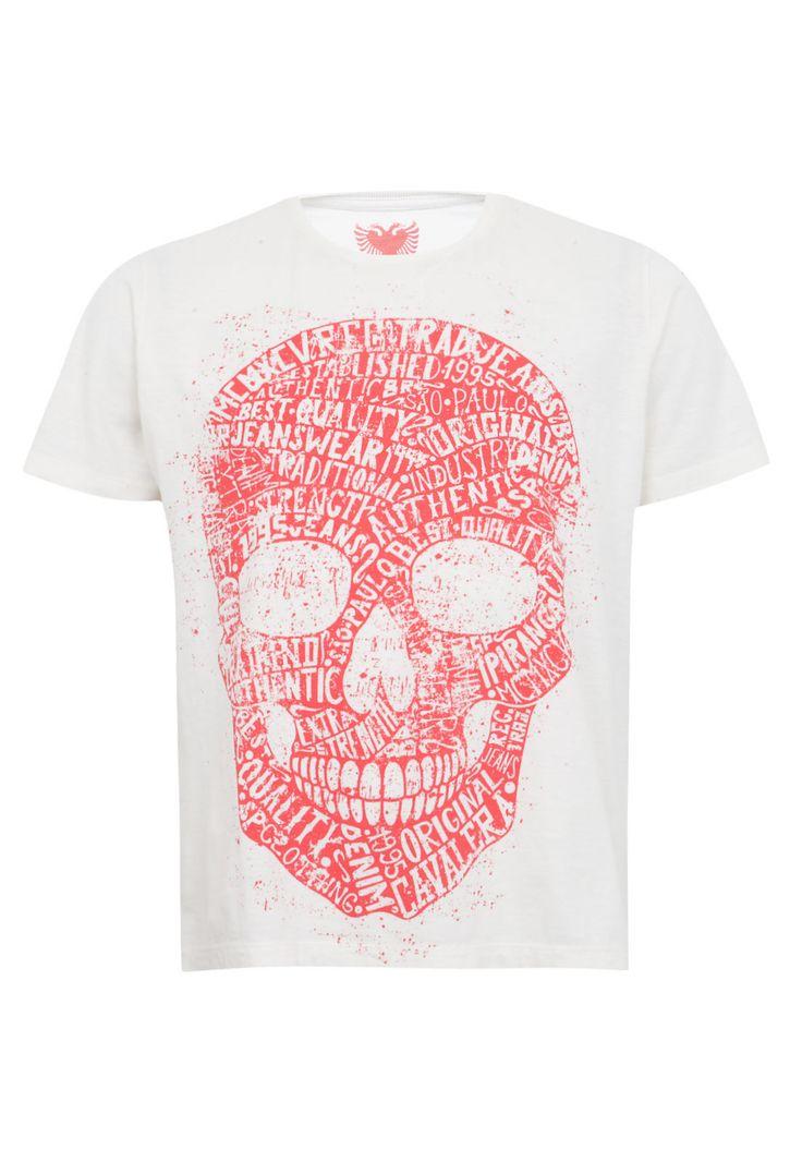 Camiseta Cavalera Caveira Escrita Off-White