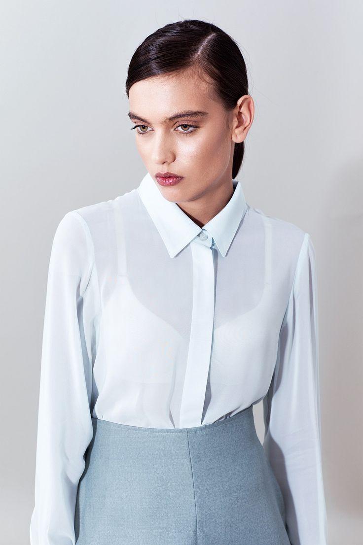 Viscose Shirt, front detail @ chemistry.boutique